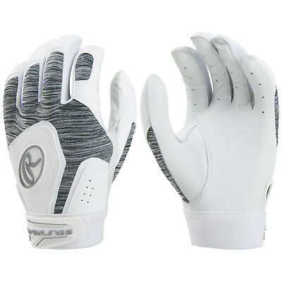 Rawlings Storm Fastpitch Softball Batting Gloves - White - XL