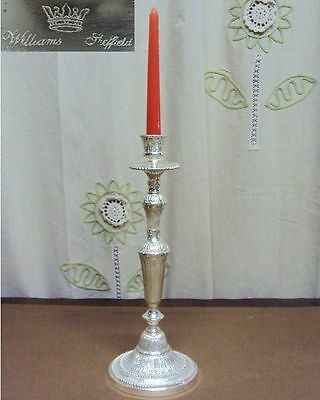 N 7402 N° BELLISSIMO CANDELABRO 1 FIAMMA in ARGENTO SHEFFIELD COLLECTION