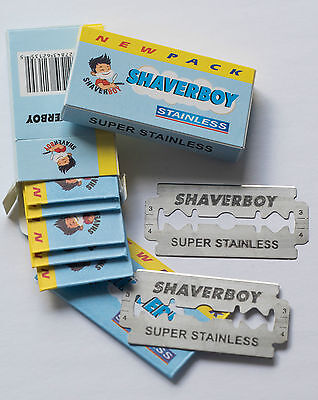 100 Double Edge Razor Blades Shaverboy Canada - Ships Free To Canada !!!