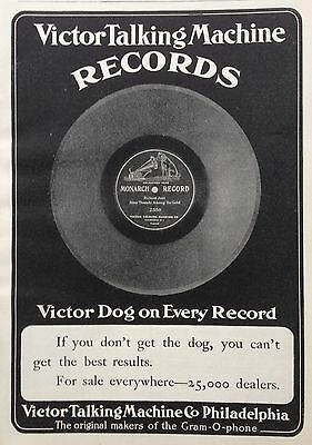 1904 Ad (F20)~Victor Talking Machine Records. Victor Dog On Every Record