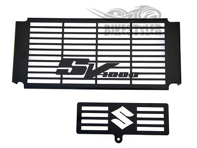 SUZUKI SV 1000 S & N 03-08 BLACK RADIATOR COVER w/ OIL COOLER GRILL