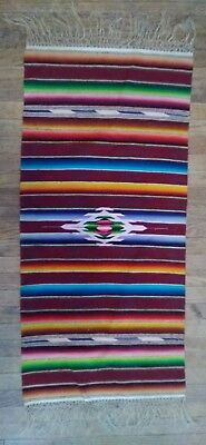 Vintage Indian wool ? Tourist blanket/tapestry 1