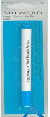 Milward Water Erasable Pen Blue fabric marker sewing craft material washable ink