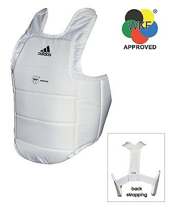 (Large) - adidas WKF Karate Chest Body Protector Armour Martial Arts. Best Price