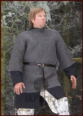 Chainmail Haubergeon 8 MM, riveted Flachring / Die-Cut, Size XL by ULFBERTH