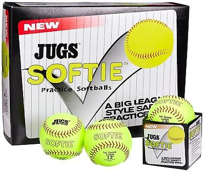 (28cm ) - JUGS Softie Practise Softballs. Shipping is Free