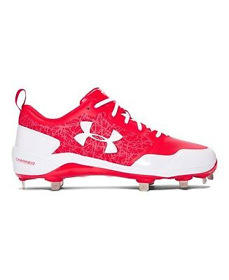 (9 Medium US, Red/White) - Under Armour Men's Yard Low ST Baseball Cleats