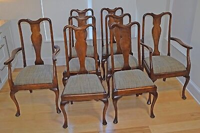 ANTIQUE AMERICAN QUEEN ANNE CHAIRS, SET Of EIGHT  $766.67
