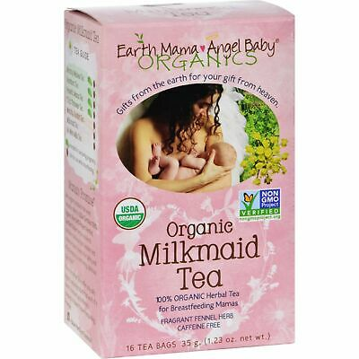 Earth Mama Angel Baby Organic Milkmade Tea - 16 Tea Bags 3 Pack