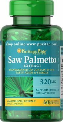 Puritan's Pride Saw Palmetto Standardised Extract 320 mg-60 Softgels New