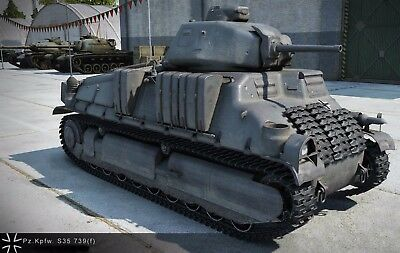 World Of Tanks Starter Account Asia Server Includes Pz S35 & 1800 Gold