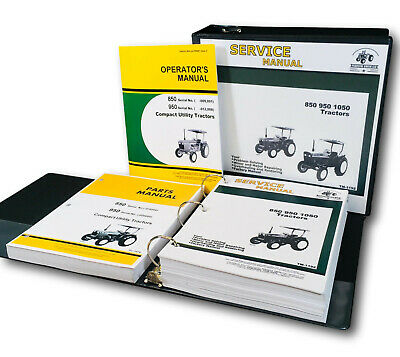 John deere 850 tractor service repair manual.