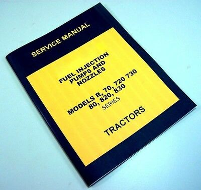 SERVICE MANUAL FOR John Deere Diesel Bendix Scintilla Fuel Injection