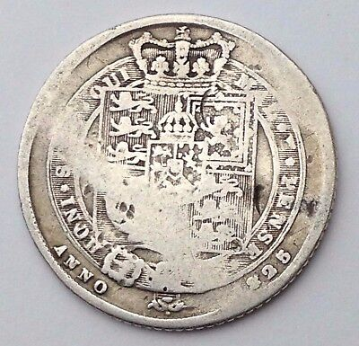 Dated : 1825 - Silver Coin - Sixpence / 6d - King George IIII - Great Britain