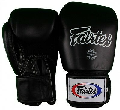 (410ml, Black) - Fairtex Breathable Thai Style Training Gloves. Free Shipping