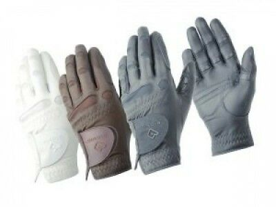 (White, 6.5) - Bionic ShowGrip Horse Riding Gloves - Made From Full Grain
