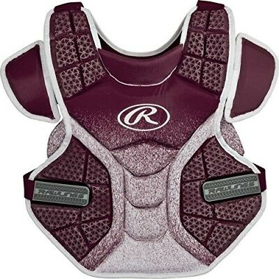 (Maroon/White) - Rawlings Sporting Goods Softball Protective Velo Chest