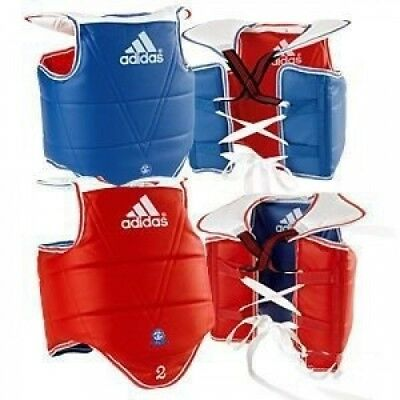 (X-Small) - Adidas WTF TaeKwonDo Solid Reversible Chest Protector