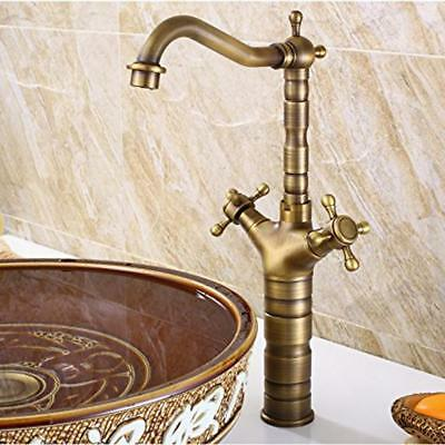 Kitchen Basin Faucet Antique Swivel Hot &Cold Water Mixer Tap Single Hole #6