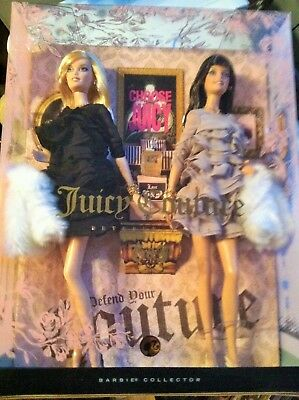 Barbie Juicy Couture Beverly Hills G&P Barbie 2 Doll Set Gold Label Mint In Box