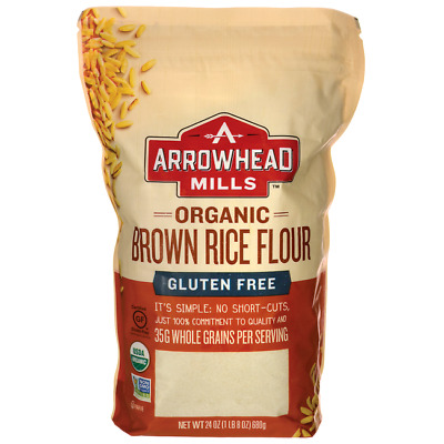 Arrowhead Mills Organic Brown Rice Flour 24 oz (680 grams) Pkg