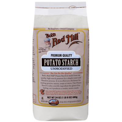 Bob's Red Mill Potato Starch Unmodified 24 oz (1 lb 8 oz) (680 g) Pkg