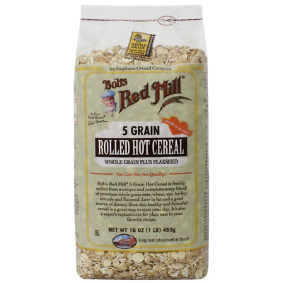 Bob's Red Mill 5 Grain Rolled Whole Grain Hot Cereal 16 oz (453 g) Pkg
