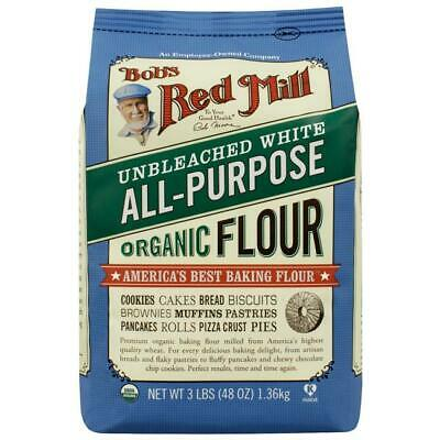 Bob's Red Mill Unbleached White All-Purpose Organic Flo 48 oz (3 lbs) (1.36 k...