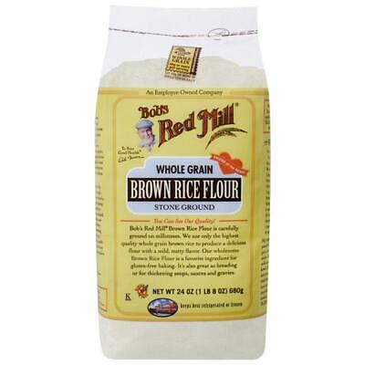 Bob's Red Mill Whole Grain Brown Rice Flour 24 oz (1 lb 8 oz) (680 g) Pkg