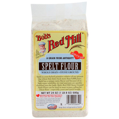 Bob's Red Mill Spelt Flour Whole Grain Stone Ground 24 oz Pkg