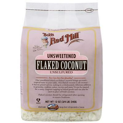 Bob's Red Mill Coconut Flakes Unsweetened 12 oz (3/4 lb) (340 g) Pkg