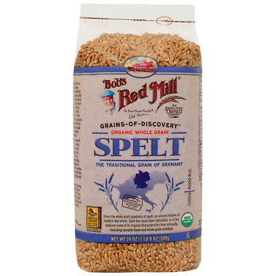 Bob's Red Mill Organic Whole Grain Spelt 24 oz (680 g) Pkg