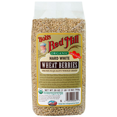 Bob's Red Mill Organic Hard White Wheat Berries 28 oz (793 g) Pkg