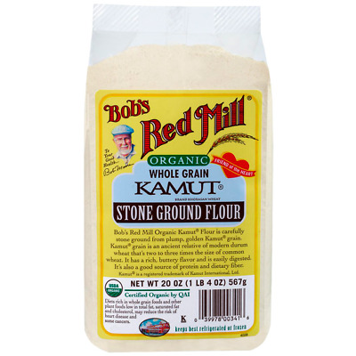 Bob's Red Mill Organic Whole Grain Kamut Stone Ground Flour 20 oz Pkg