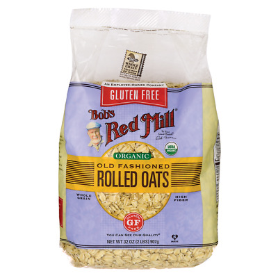 Bob's Red Mill Gluten Free Organic Old Fashioned Rolled Oats 32 oz (907 g) Pkg