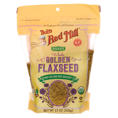 Bob's Red Mill Organic Whole Golden Flaxseed 13 oz (368 g) Pkg
