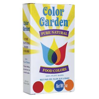 Color Garden Pure Natural Food Colors - Multi Pack 4 / 1 oz Pkts