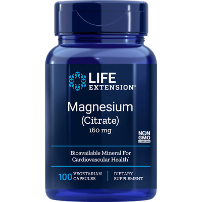 Life Extension Magnesium Citrate 160 mg 100 Veg Caps