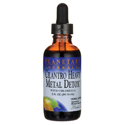 Planetary Herbals Cilantro Heavy Metal Detox with Chlorella 2 fl oz Liquid
