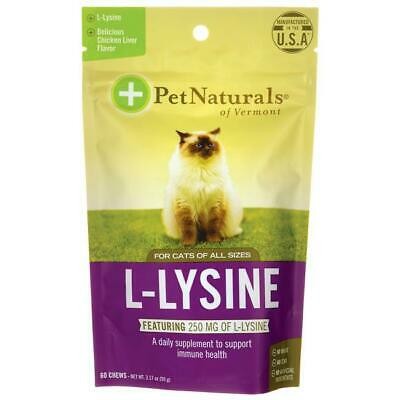 Pet Naturals L-Lysine for Cats - Chicken Liver Flavored 60 Chews