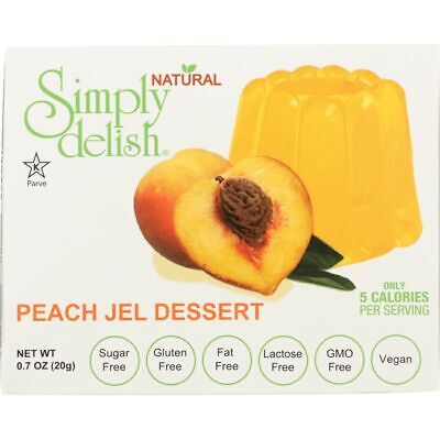 Simply Delish Peach Jel Dessert 0.7 oz (20 grams) Pkg