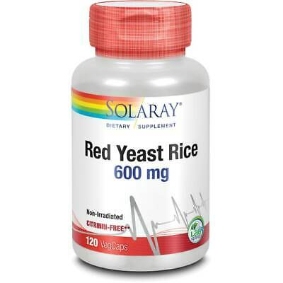 Solaray Red Yeast Rice 600 mg 120 Veg Caps
