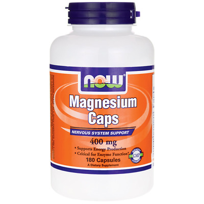 NOW Foods Magnesium 400 mg 180 Caps