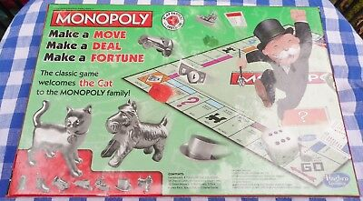 MONOPOLY Classic with Cat Token (2013, Hasbro Gaming Complete Sealed NEW)