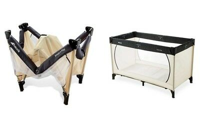 Hauck Dream & N Play Travel Cot Beige Grey Brand New With Mattress