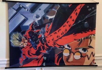 Vash the Stampede-gunfight collage-Trigun Anime- Cloth Wall Scroll(43)
