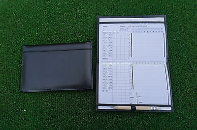 Miclub A5 Std Black leather golf scorecard holder - Original and still the Best