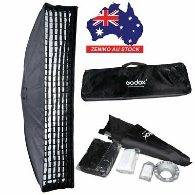 AU Godox 35*160cm Bowens mount Softbox with Honeycomb Grid for Studio Flashes