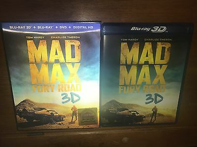 Mad Max: Fury Road 2015 (Blu-Ray Disc + DVD) ** NO 3D DISC **