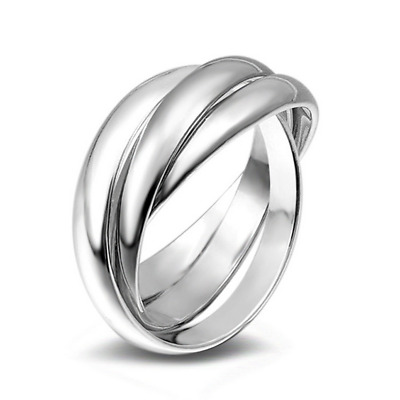 925 Silver Plated Rings Fashion Women Soild Wide Adjustable Ring Wedding Jewelry
